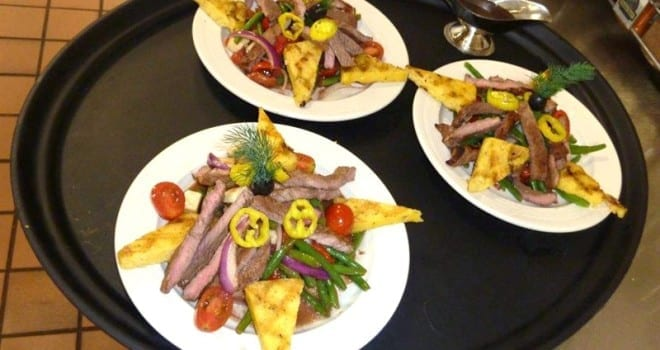 Featured Recipe Green Bean Steak Salad from The Inn at Belden Village Assisted Living Cafeteria
