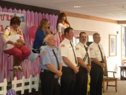 Assisted Living Mother's Day Event Firemen Escorts