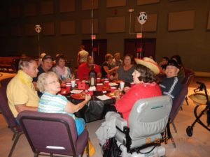Residents enjoy food and friends during Western Night
