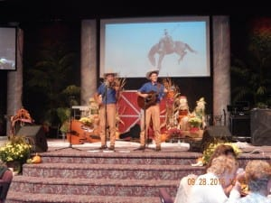 Stockdale Family Duet performs at The Inn at Belden Village Western Night