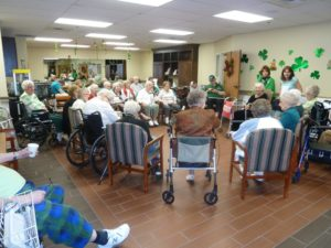 The Inn at Belden Village residents gathered at party