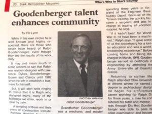 Ralph Goodenberger article