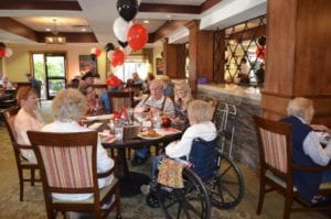 The Inn at Belden Village residents enjoying Western Night