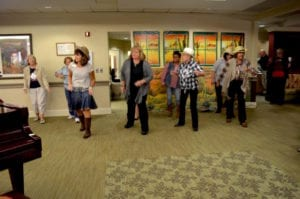 The Inn at Belden Village residents line dancing