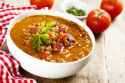 Sausage lentil soup recipe from The Inn at Belden Village
