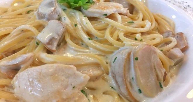Rosemary Cream Chicken With Linguini Pasta