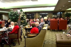 Residents gathered for The Inn at Belden Village annual senior resident christmas party