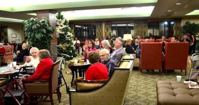 Residents gathered for The Inn at Belden Village annual senior resident christmas party