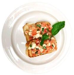 Tomato Bruschetta made by The Inn at Belden Village Chef Joseph