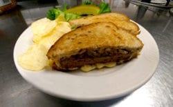 chef prepared patty melt from The Inn at Belden Village
