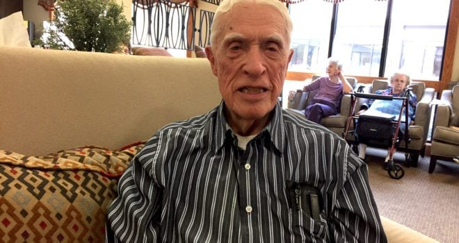 The Inn at Belden Village senior assisted living resident Donald Lovgren