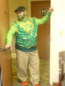 Ed from The Inn at Belden Village in his leprechaun costume