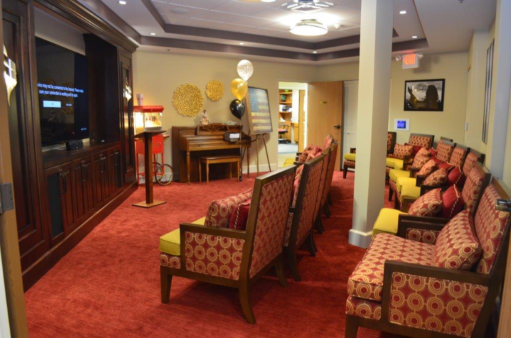 Theatre Room at The Inn at Belden Village Senior Assisted Living