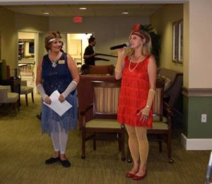 Assisted living picnic party
