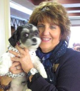 Zoey with Activities Director Debbie Brindack