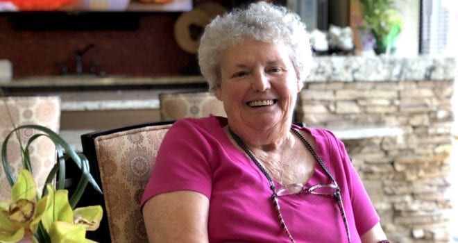assisted living resident Betty Speight