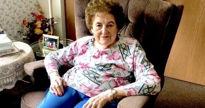 Assisted living resident Mary Dysle