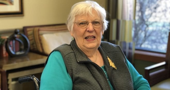 Assisted Living Resident Peggy Sabol