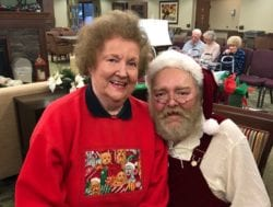 Santa Claus with our assisted living residents