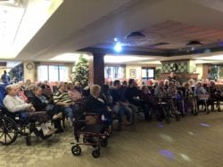 New Year's Eve event with assisted living residents