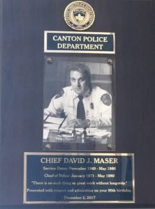 Chief David Maser - Canton Police Department