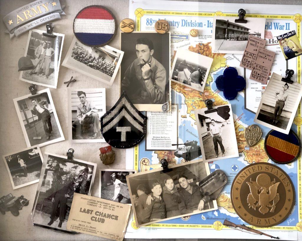 David Maser's collage of service
