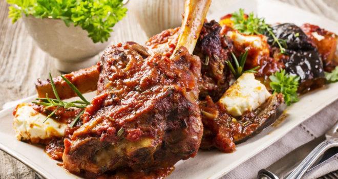 Greek lamb shanks